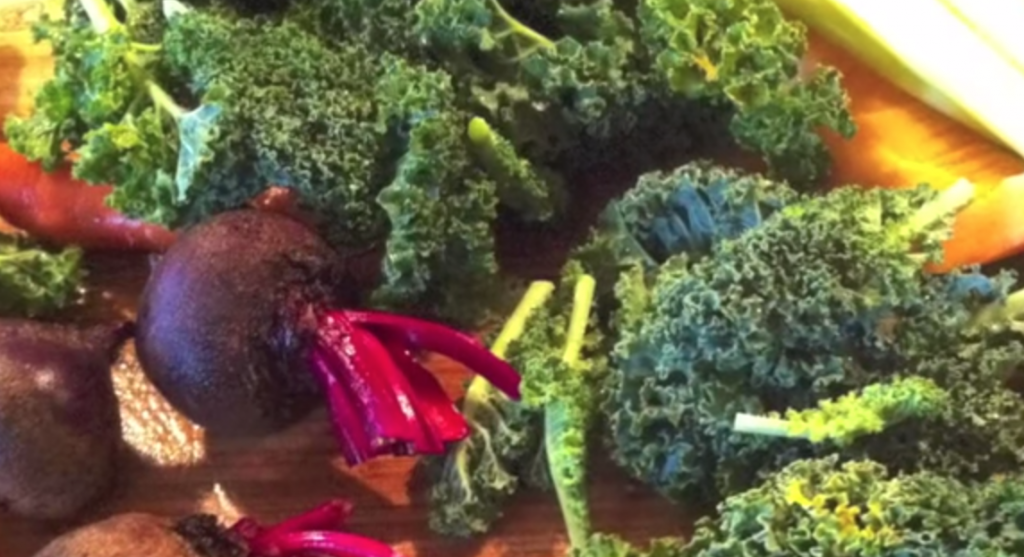 fresh fruits and vegetables for juicing